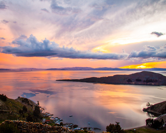 Sunset on Isla del Sol, Bolivia