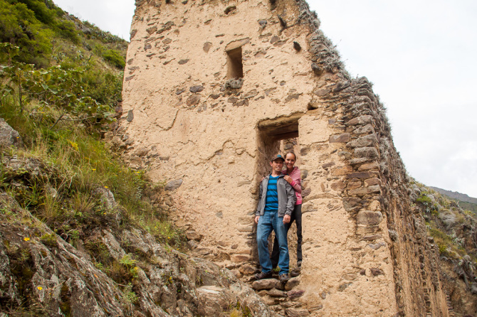 Landon and Alyssa at Ancient Inca Ruins