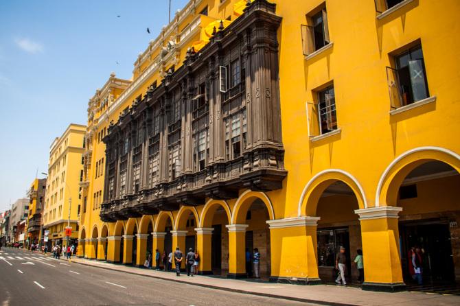 City Street in Lima Peru