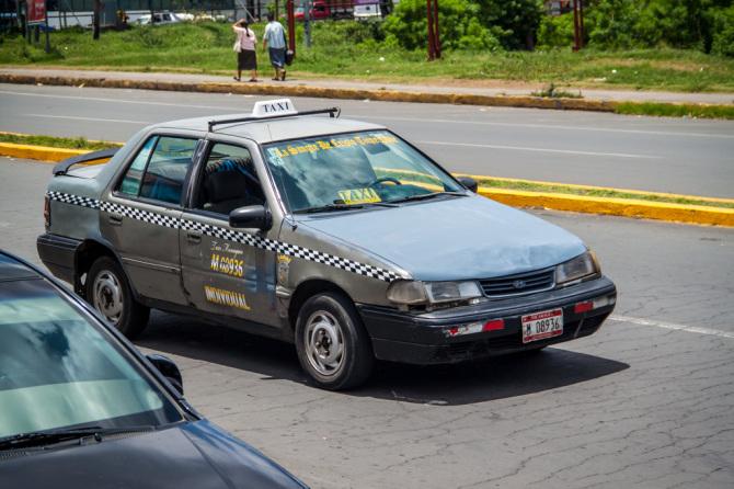 Gray Taxi Car