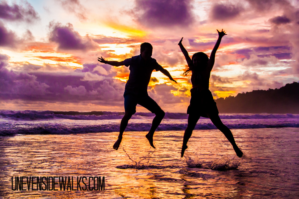 Jumping in the Costa Rican Sunset