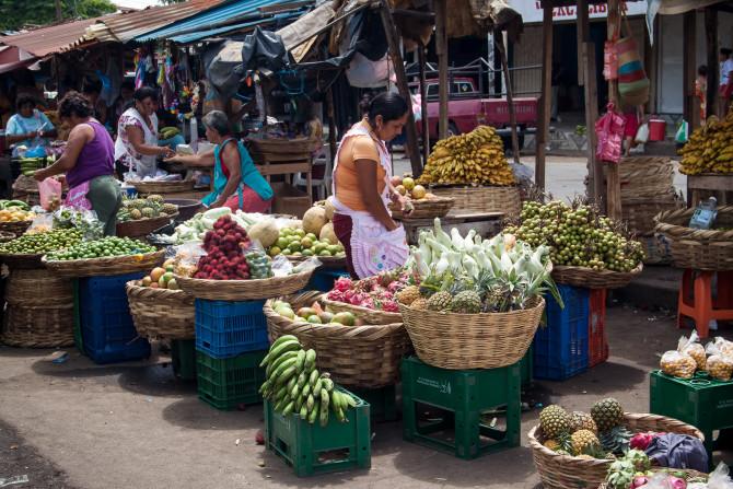 Local Food Market in Managua Nicaragua
