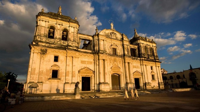 Leon Cathedral in Leon Nicaragua