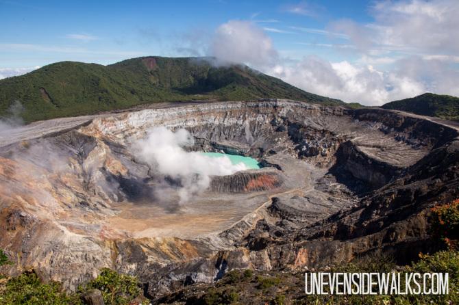 Poas Volcano Crater Costa Rica