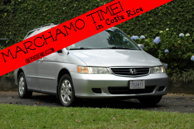 Car that needs marchamo paid in Costa Rica