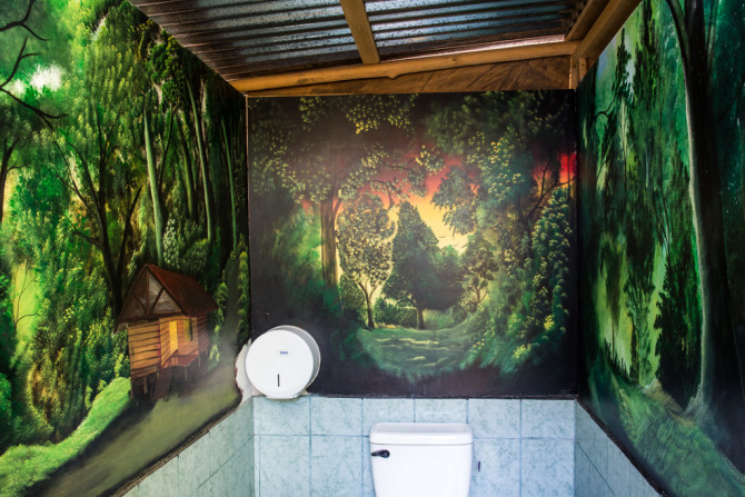 Mural in bathroom