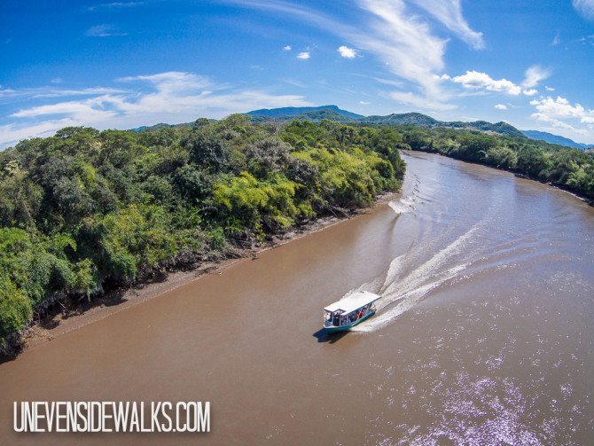 Aerial Photography over Boat in Palo Verde National Park