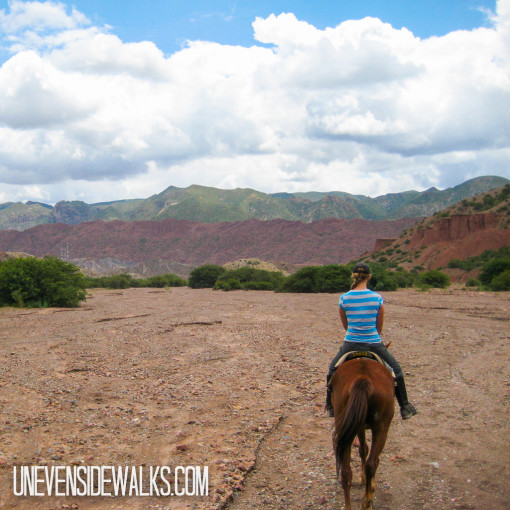 Horseback riding tour with Alyssa in the lead
