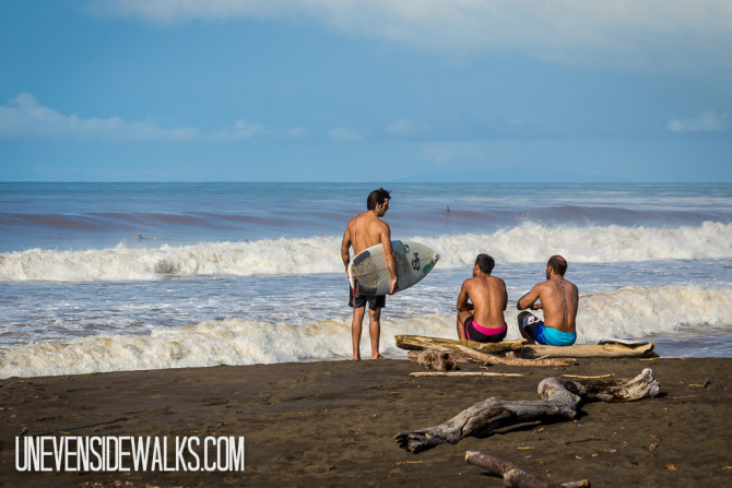 Surfers at the Beach in Costa Rica