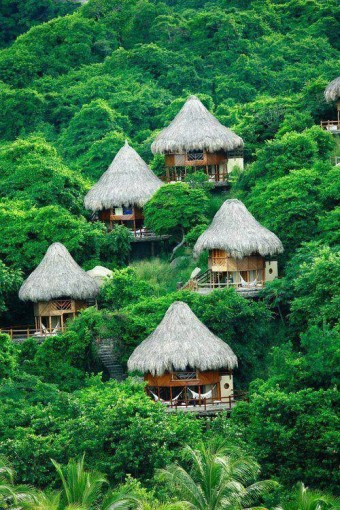 Thailand Huts on Hillside