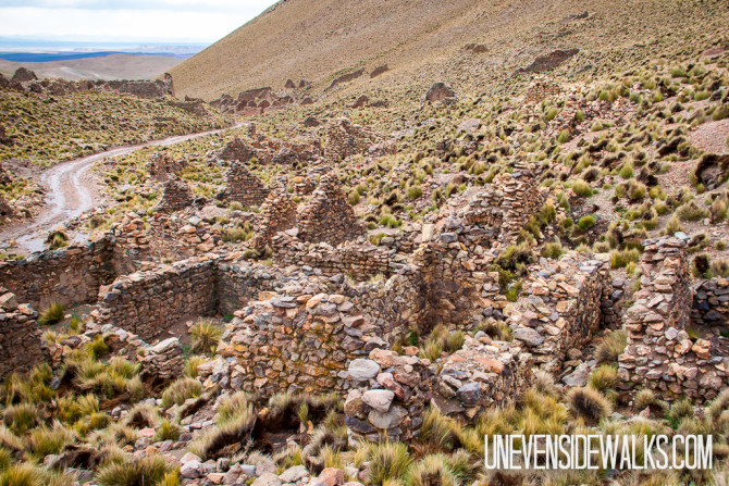Stone buildings in the Bolivia Altiplano