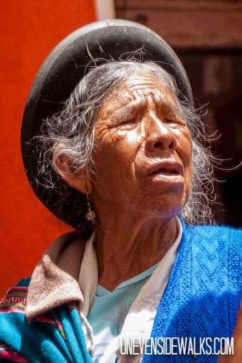 Bolivian Lady with Bowler Hat