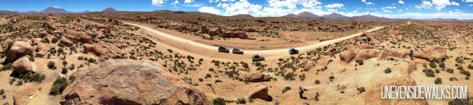 Beautiful Desert in Bolivia with Jeep Trails