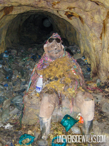 Bolivian Devil Statue in the Mine to Protect Them
