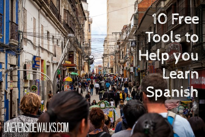 10 Free tools to help you learn Spanish   UnevenSidewalks