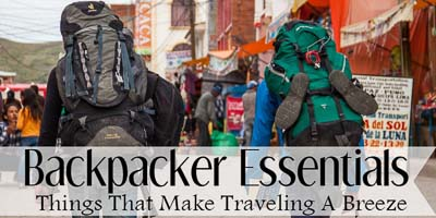 Backpacker Essentials Button