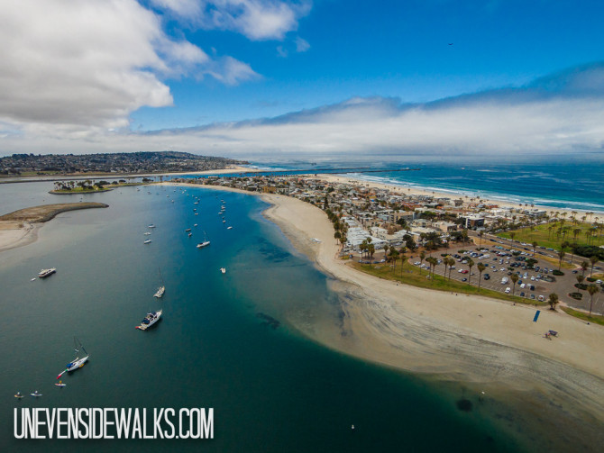 Mission Beach from the sky Aerial Travel Photography