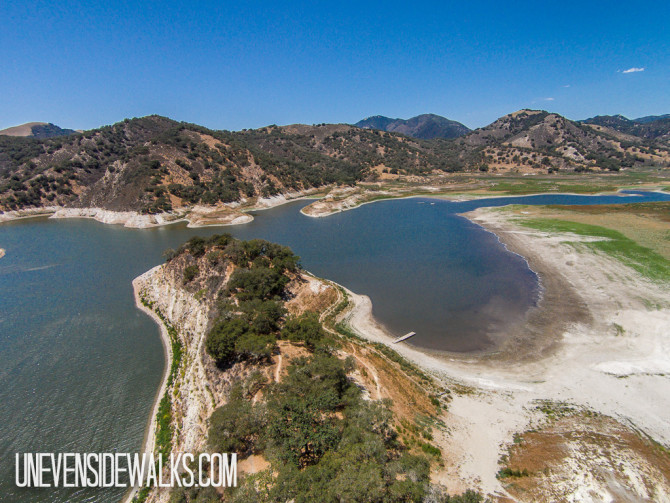 Low water during Drought in California
