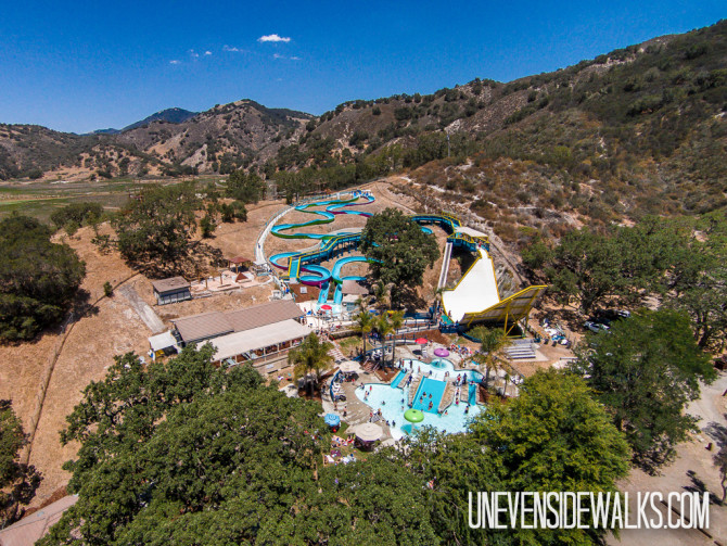 Mustang Water Park Slides Aerial Photo