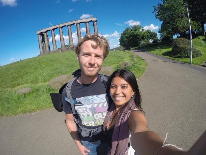 Edinburgh, Scotland Column Ruins