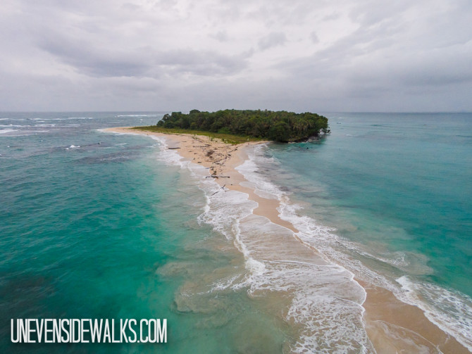 Zapatillo Island from the air shot using a quadcopter drone