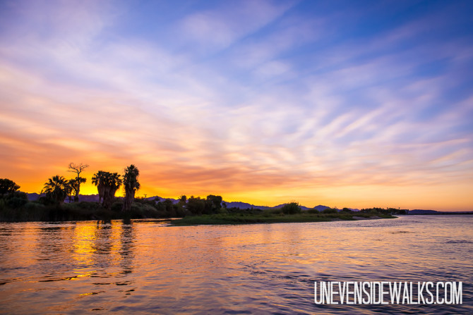 Gorgeous Sunset on the Colorado River