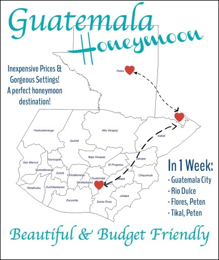 Guatemala Honeymoon Map