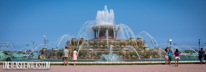 Fountain in Chicago on the Walking View Path Panorama