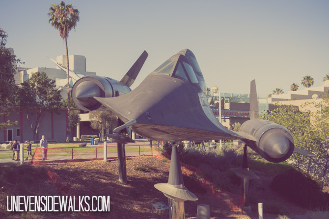 SR-71 Blackbird on Display at California Science Center