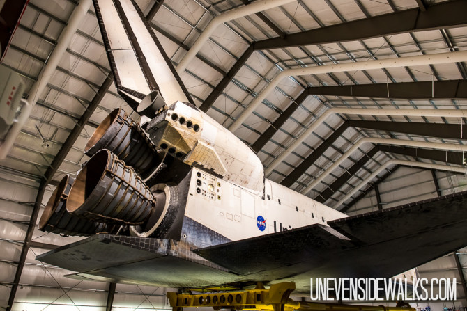 Tail Section of Space Shuttle
