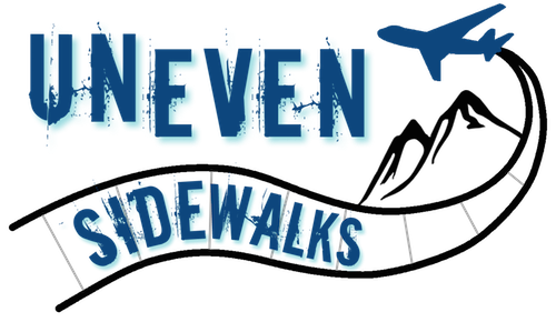 UnevenSidewalks Travel Blog Logo