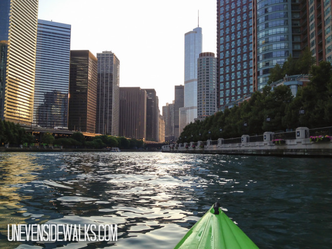 View of Chicago from Kayak