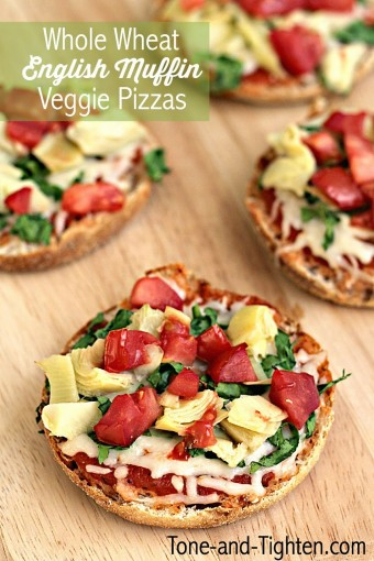 Whole-Wheat-English-Muffin-Veggie-Pizzas-Recipe-on-Tone-and-Tighten