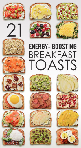 easy energy booster breakfast toasts