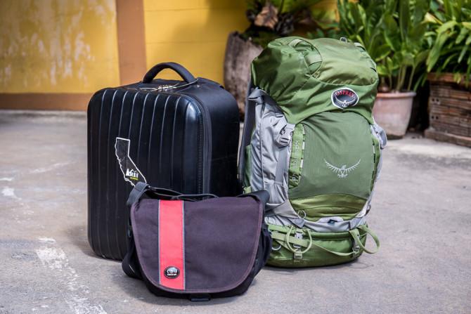 Cluster of Backpacks