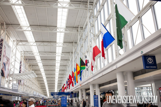 International Flags Hanging at the Airport