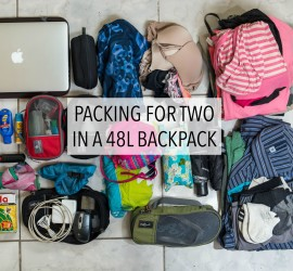 Light Packing For The Traveling Couple U2013 A 48 Liter Backpack For Two!
