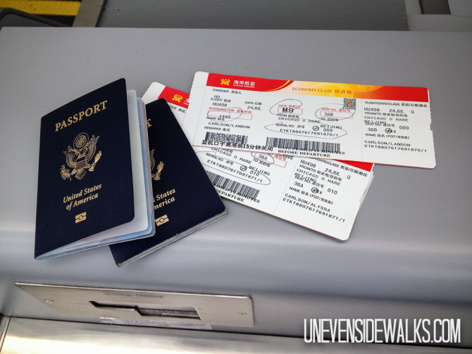 Passports and Tickets Ready to Travel
