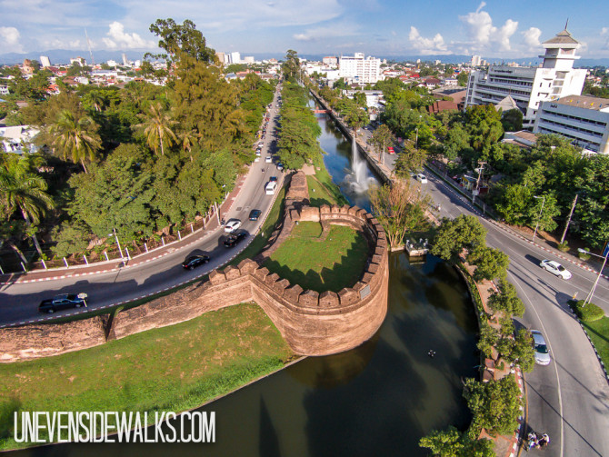 Chiang Mai Walls Aerial Photography