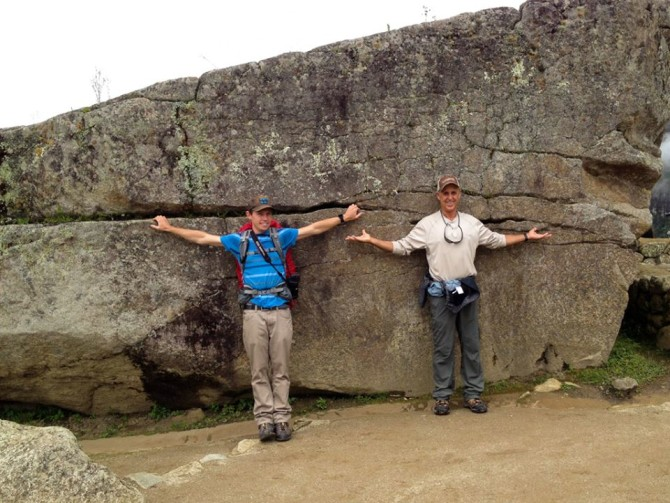 Allen and Landon at Machu Picchu