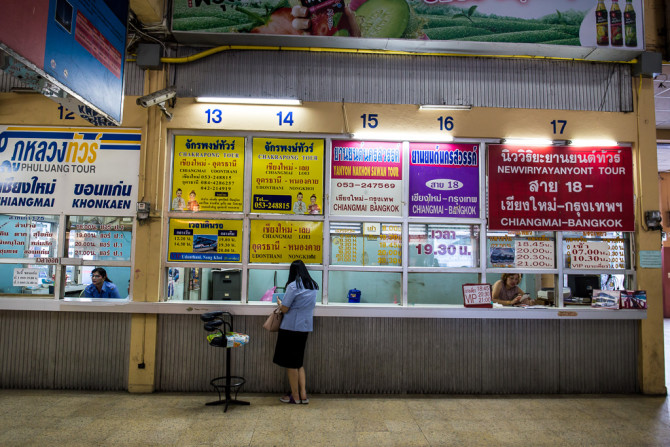 Bus Terminal in Chiang Mai to Udon Thani and Nong Khai