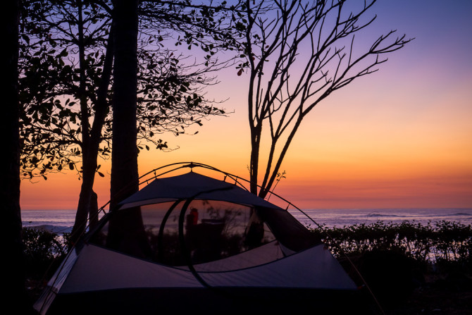 Nicoya Peninsula Camping by the Beach