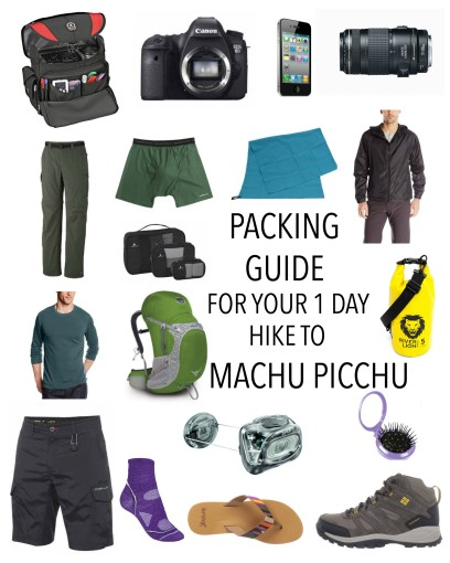 Packing Guide for Hike to Machu Picchu What to Bring