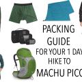 Packing Machu Picchu Hike FI