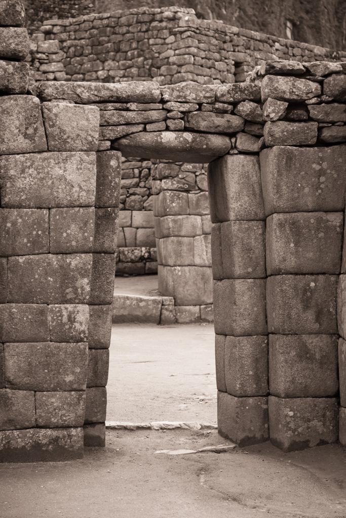 Stone Arch Door Entry