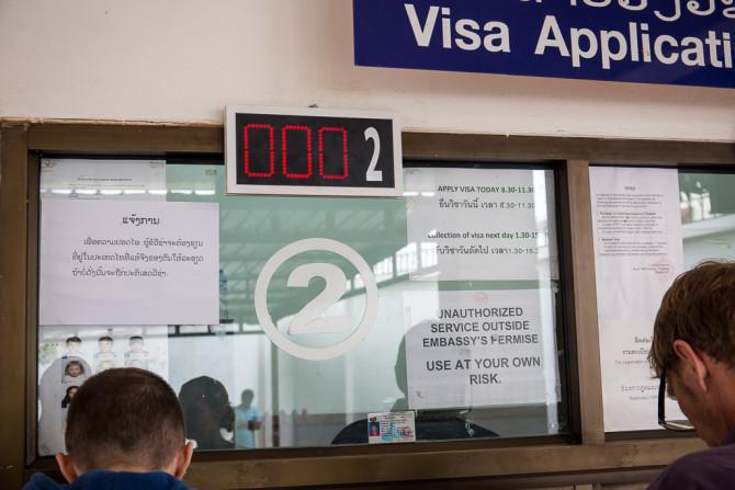 Thai Visa Time Schedule at Embassy in Laos