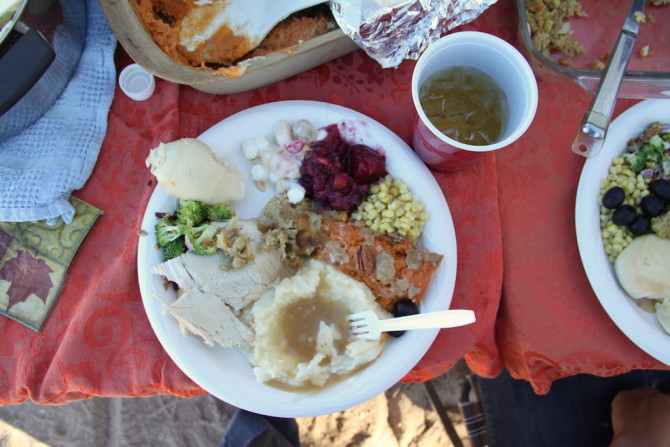Thanksgiving Feast in the Desert