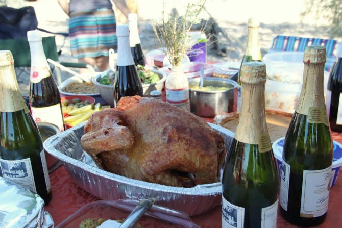 Turkey Dinner and Martinelli's Apple Cider