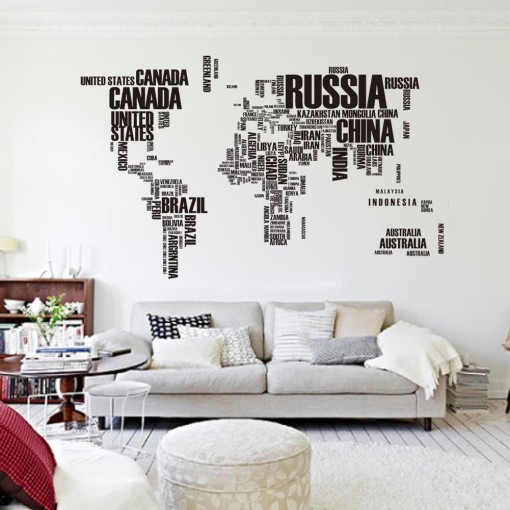 World Map with Words
