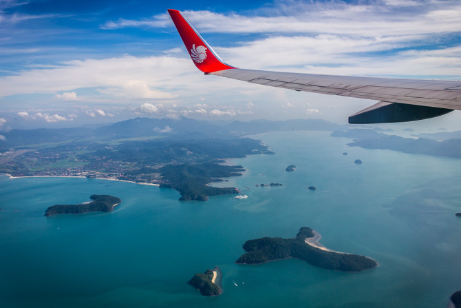 Islands of Langkawi Malaysia from Plane